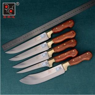 T1-T5共5把不锈钢锻打屠宰刀剔骨刀割肉刀